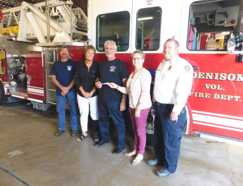 Denison Fire Department Receives Donation from REALTORS®